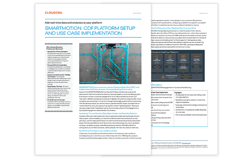 SmartMotion: CDF Platform Setup and Use Case Implementation